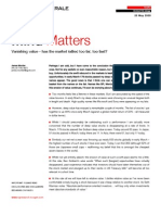 Societe Generale-Mind Matters-James Montier-Vanishing value-has the market rallied too far,too fast?-090520