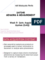 Week 9 -Data Acquisition Systems (DAQ)