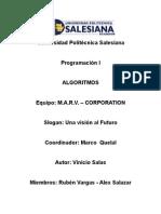 SubPrograma 1 Algoritmo