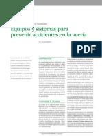 Equipos y sistemas para prevenir accidentes en la acería