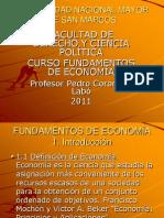 DIAPOSITIVAS DEL CURSO FUNDAMENTOS DE ECONOMÍA