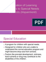 Implication of Learning Theories to Special Needs Students