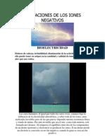 Aplicaciones de Los Iones Negativos