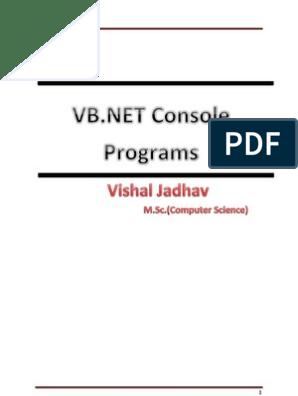 Write A Program Using Data Binding In Vb Net