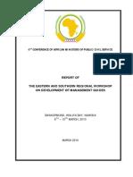 Report of Regional Workshop NAMIBIA Final