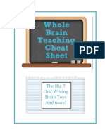Whole Brain Cheat Sheet in (Editable Word Format)