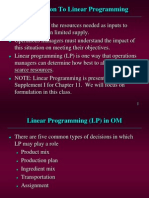 linear programing introduction