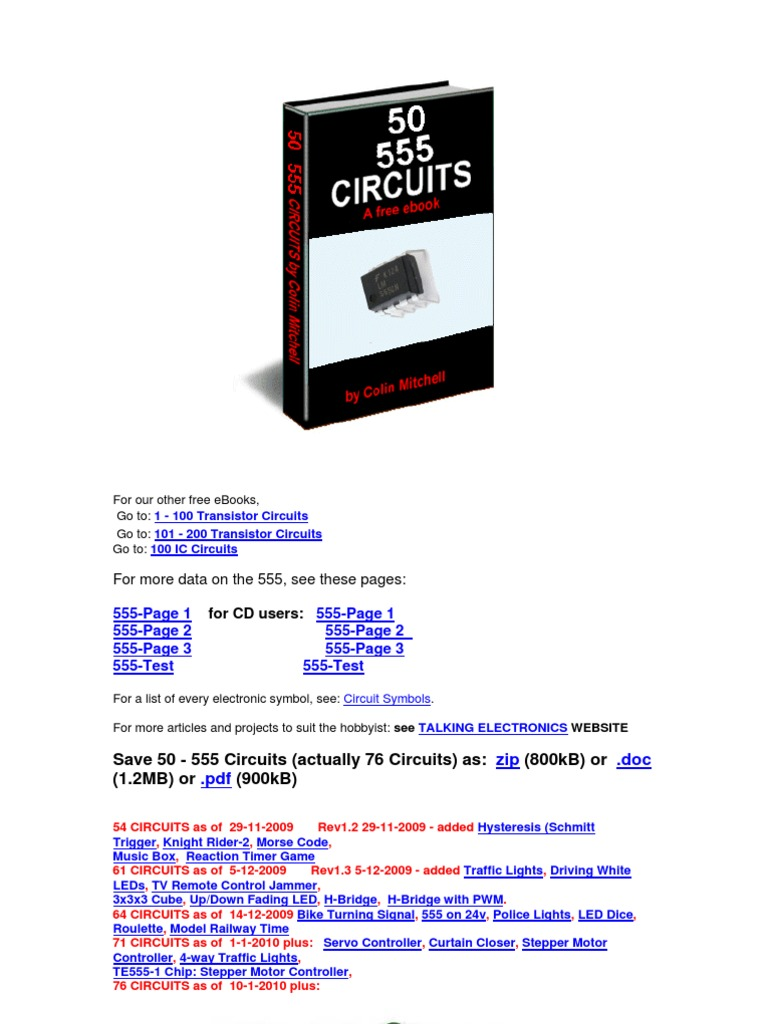 50 555 Timer Circuits Electronic Detector Radio Lm555 Circuit Page
