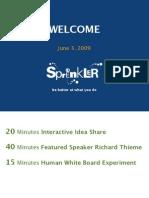 Spreenkler Agenda 06-03-09