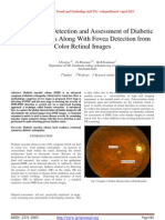 An Automatic Detection and Assessment of Diabetic Macular Edema Along With Fovea Detection from Color Retinal Images