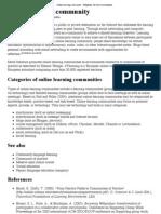 Online Learning Community - Wikipedia, The Free Encyclopedia