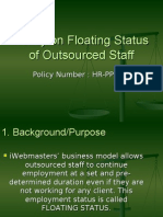 Policy on Floating Status
