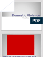 Domestic Violence the Effects on Children