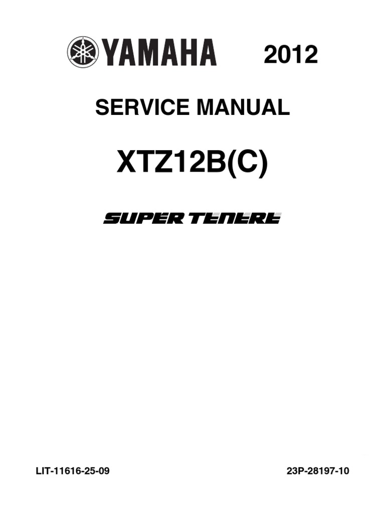 Yamaha Xt1200z SuperTenere 2012 - Service Manual | Anti Lock Braking System  | Throttle