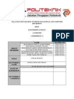 Experiment 2 Lab Report Eng Science