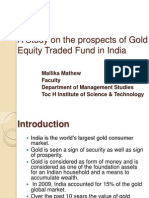 A Study on the Prospects of Gold Equity Ppt