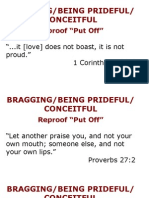 Bragging Being Prideful Conceitful