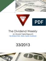 Dividend Weekly 33_2013