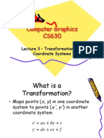 Lecture4 Transformation CoordSys
