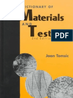 Dictionary of Materials and Testing, Second Edition