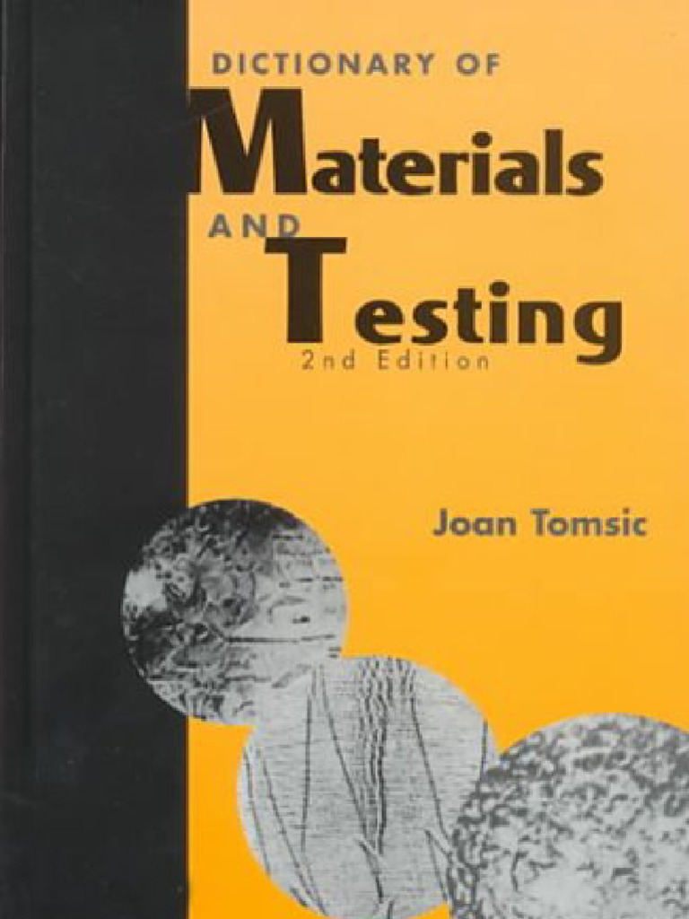 04e73c362e Dictionary of Materials and Testing
