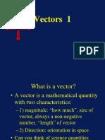 Vectors Lecture 1