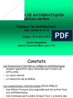 Conference Mathematiques Cycle 2 Et 3 Dieppe Avril 12