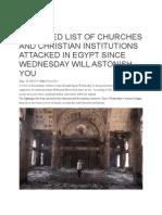 Egypt Anti-Christian Pogrom
