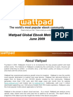 Wattpad Global eBook Metrics Report June 2009