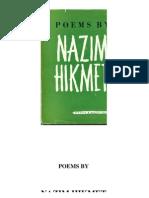 Poems by Nazim Hikmet, New York, 1954