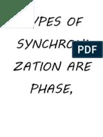 Types of Synchronization