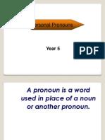 PNP - Yr 5 Unit 1 - Personal Pronouns