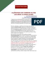 PEDAGOGIA DE CUERDAS ALTAS