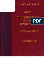 Horner I B Tr Book of the Discipline Vinaya Pitaka Vol VI Parivara 428p