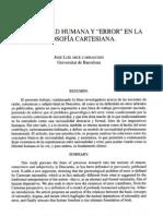 ARCE CARRASCOSO, J.L. - Subjetividad humana y error en la filosofía cartesiana