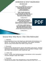 C2&3. Sifat Mahmudah & Mazmumah