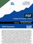 CFE VIX Futures Trading Strategies