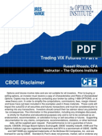 CFE VIX Futures Trading Strategies
