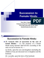 Succession to Female Hindu