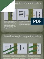 Procedure to split the gear into halves.pptx