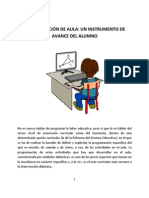 PROGRAMACIÓN DE AULA Y AVANCE DEL ALUMNO