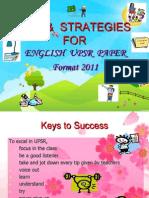 Talk on Upsr Tips 2011