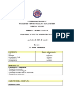 Programa de Direito Administrativo II Entregue Aos Estudantes 2013