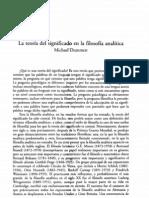 DUMMETT, M. - La teoría del significado en la filosofía analítica