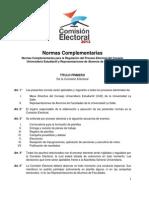 Normas Complementarias CE