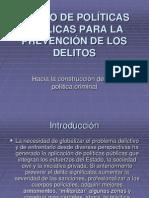DISEÑO DE POLÍTICAS PÚBLICAS PARA LA PREVENCIÓN DE