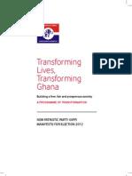 NPP 2012 Manifesto 0