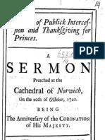 William Broome - Sermon on Princes 1722