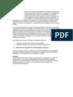 Capítulo IV - Principios básicos del mantenimiento preventivo