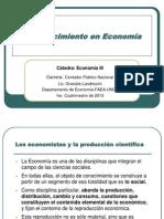 Economía III El conocimiento en Economía.ppt